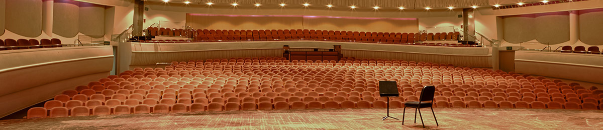 View from stage into theatre seating